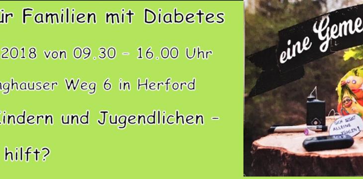 Aktionstag für Familien mit Diabetes – Samstag, 15.09.2018 von 09.30 – 16.00 Uhr